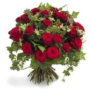 Ramos de 12 rosas rojas