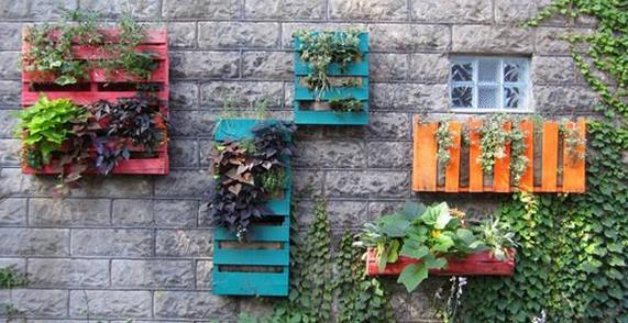 Jardineras caseras de Palets