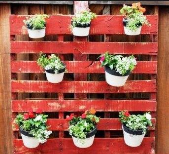 Jardineras caseras de palets - Soportes para macetas ...