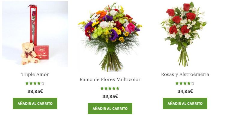 Envío de boquet de flores