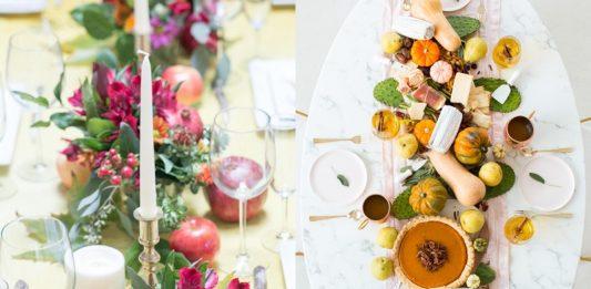 Arreglos y centros de mesa de otoño