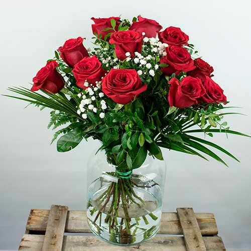 enviar 12 rosas rojas a domicilio