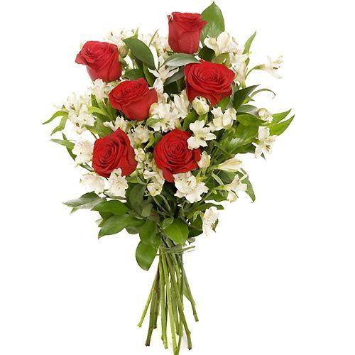 ramos rosas y alstroemeria