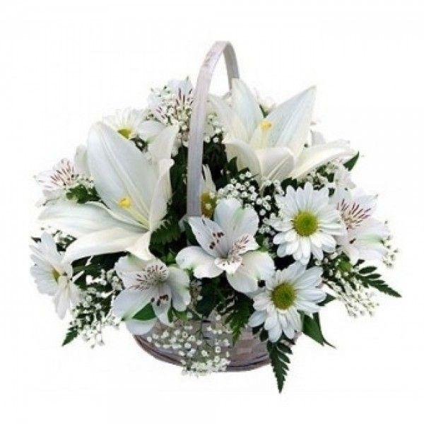 enviar cesta flores nacimiento
