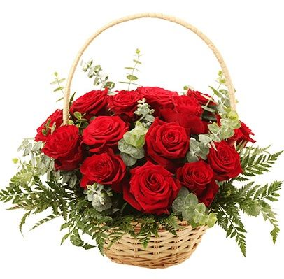 envio cesta de rosas rojas