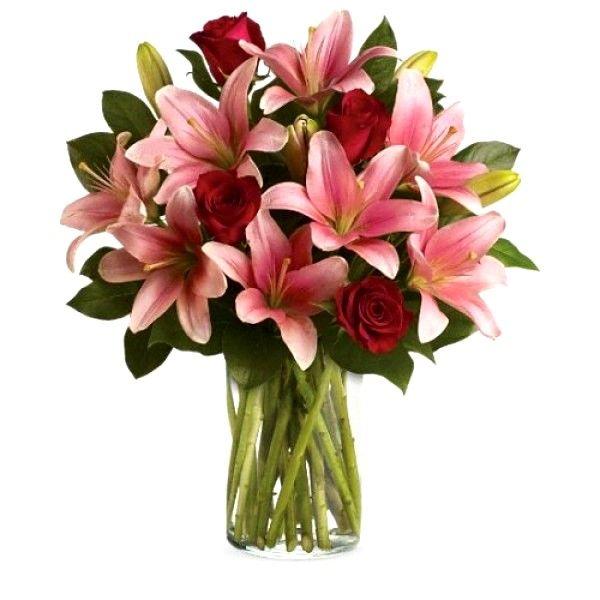 mandar rosas con lilium