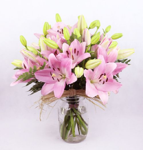 regalar ramo lilium rosadas