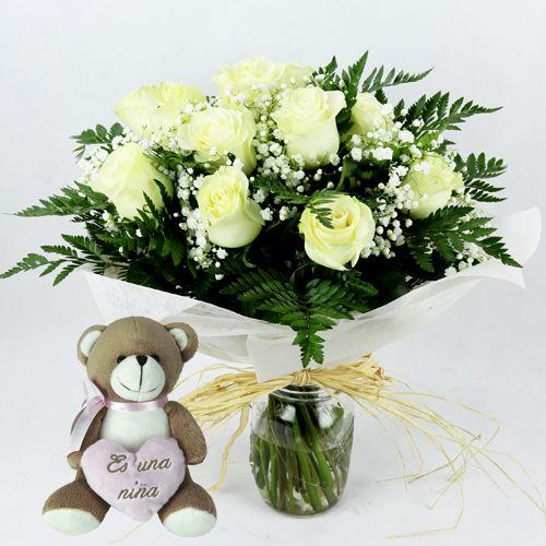regalo flores para nacimiento niña