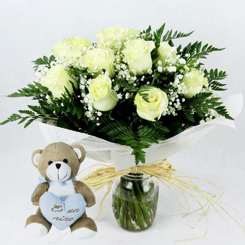 flores regalo para nacimiento
