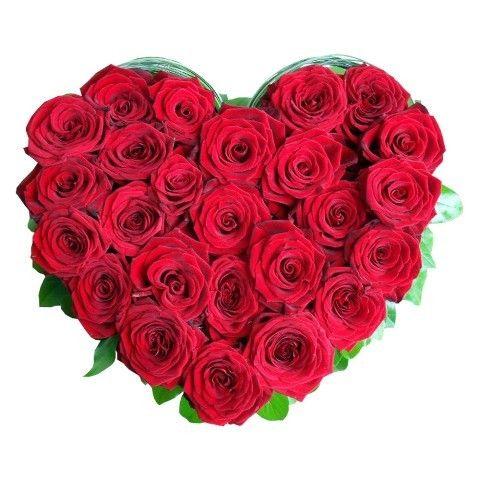 enviar corazon de rosas rojas