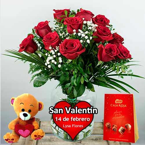 envio a domicilio de 12 rosas rojas san valentin