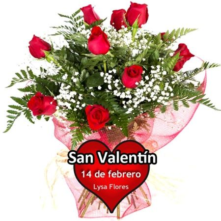 enviar doce rosas rojas san valentin