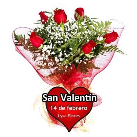 enviar seis rosas san valentin