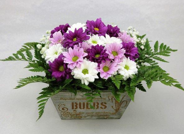 regalar cajita de flores a domicilio