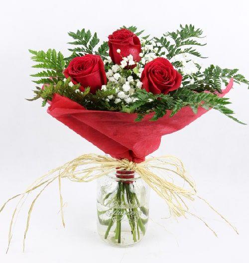 envio 3 tres rosas a domicilio