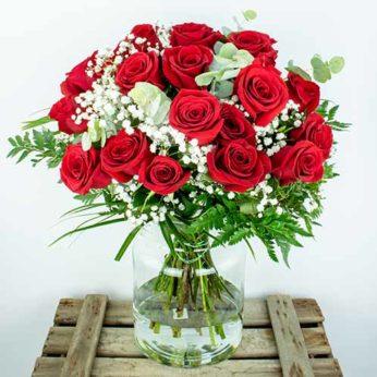 Enviar ramo 25 rosas rojas lysa flores