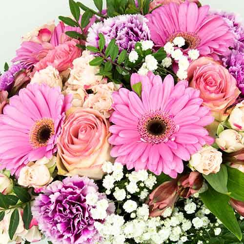 Enviar ramo en tonos rosas on lysaflores