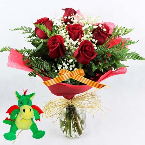 6 rosas Dragon Sant Jordi