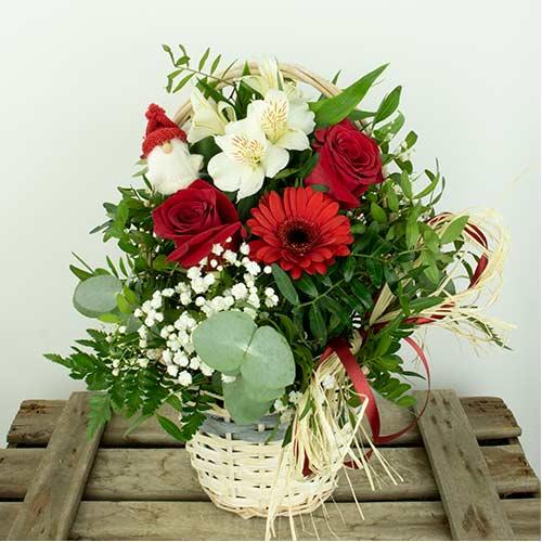 cest de flores para regalar en en navidad